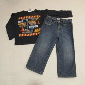 Children's Place Bottoms - 3T Boys Jeans & FREE Shirt